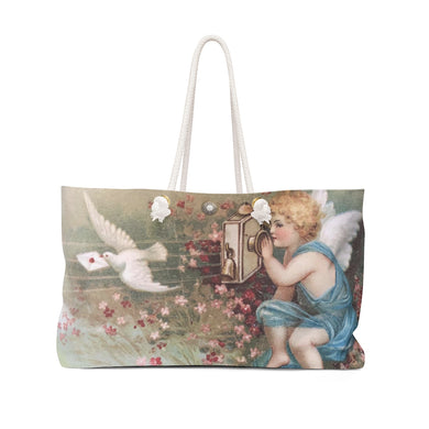 Victorian Cherub Weekender Bag Angel Dove Messenger Letter Large Lagenlook