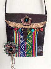 Art to Wear Handmade Handbag Leather Boho Country Vintage One of a kind