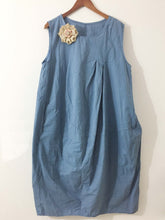 "Shabby by Lalia Moon ""Polly"" Dress One Size 1X 2X Plus Size lagenlook Blue"