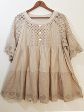 "Shabby by Lalia Moon ""Gia"" Tunic One Size Victorian Lagenlook Natural"