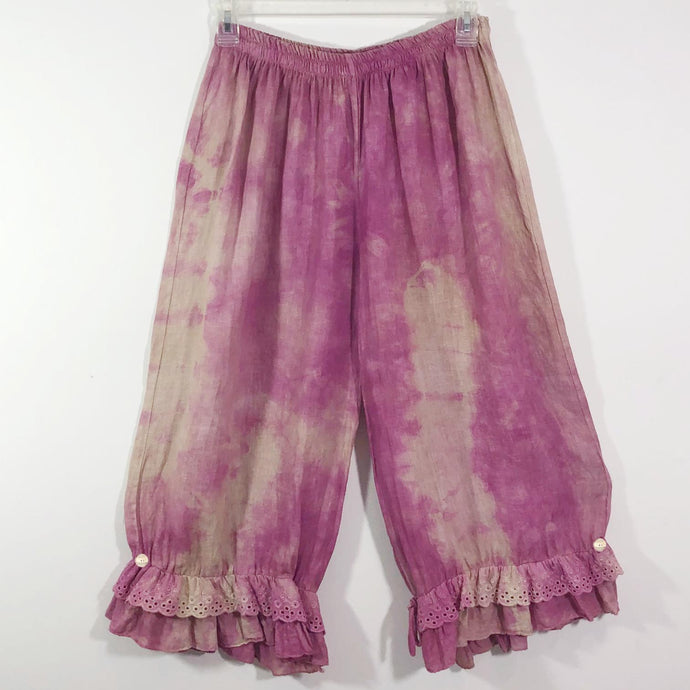 Lalia Moon Pants Handpainted Art To Wear Bloomers Hand painted Gypsy One Size Cherry