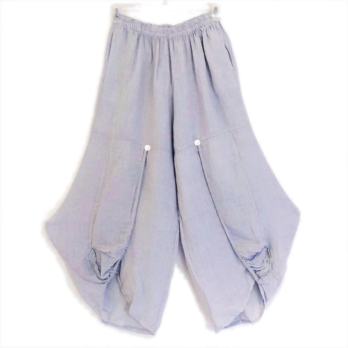Imakokuu Linen Pants Lagenlook Cloud Art to Wear Artsy One Size M L XL 1X