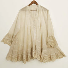 Shabby by Lalia Moon Tunic Lagenlook Victorian Cottage One Size Plus 1X 2X 3X Tea Stained