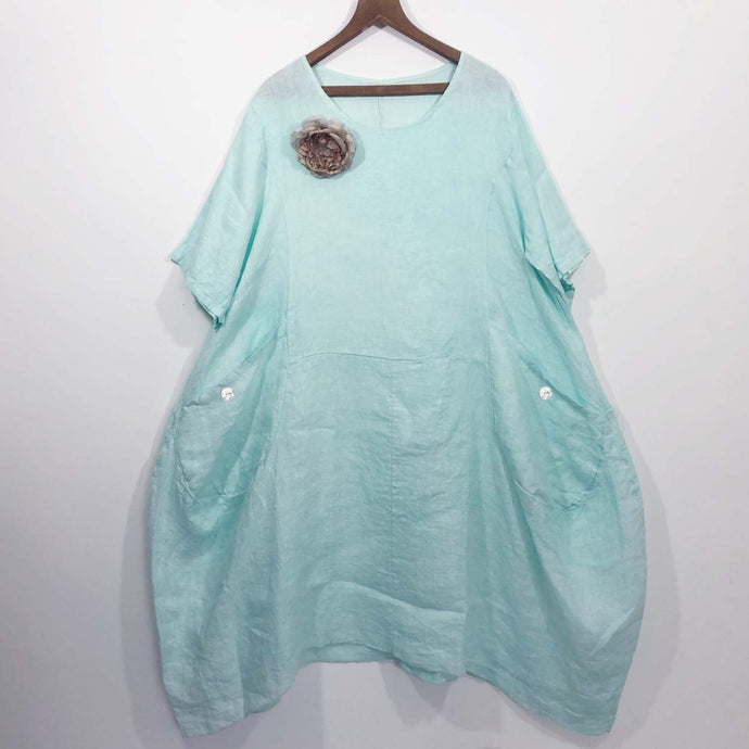 Shabby by Lalia Moon Prairie Dress pearls fits L XL 1X 2X Mint