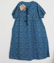 "Shabby by Lalia Moon ""Isa"" Dress One Size Linen Victorian Lagenlook Blue"