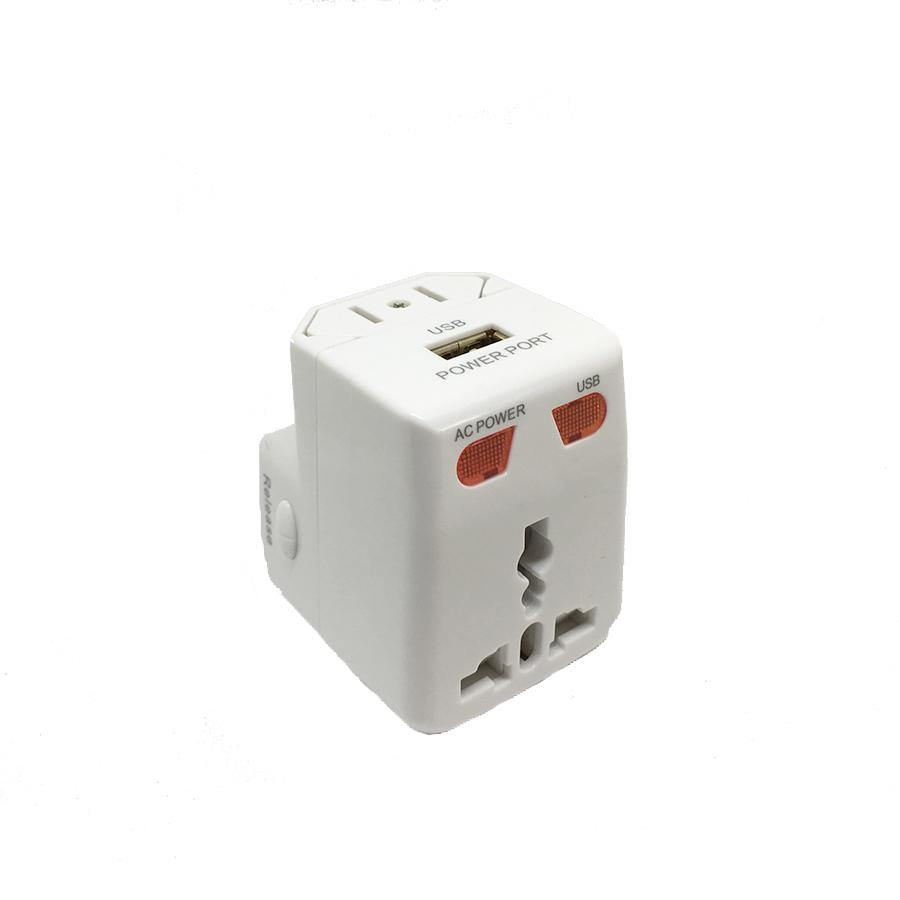 3 in 1 Universal Adapter plug with USB port