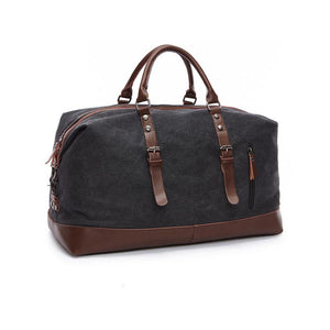 Canvas weekend duffel bag