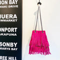 Suede frills handbags from Italy