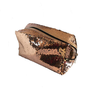 Sequin makeup bags