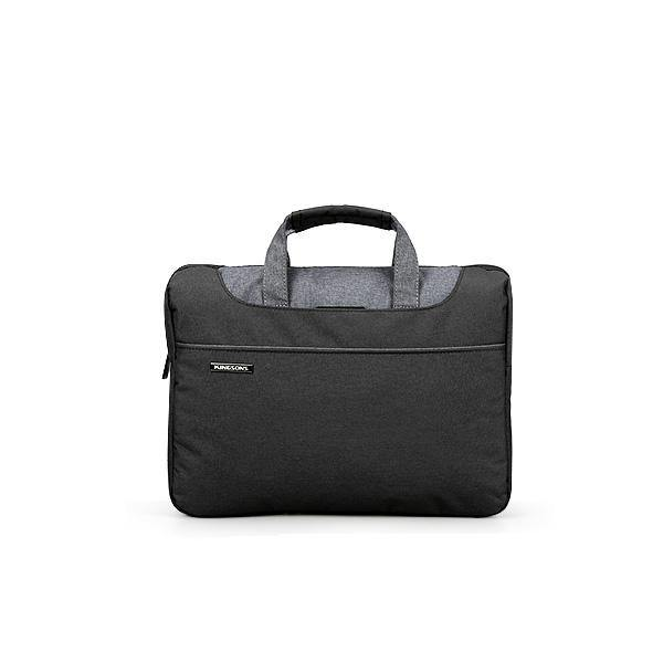 Slim black laptop bag
