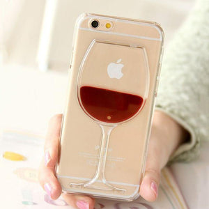 Wine glass iPhone cover - Travel Store
