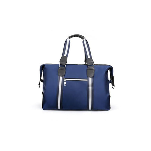 Blue nylon weekend bag
