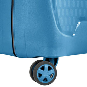 Delsey Moncey luggage blue wheel