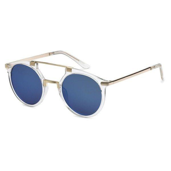 Double Bar Aviator Sunglasses- Dark Blue - newdwear