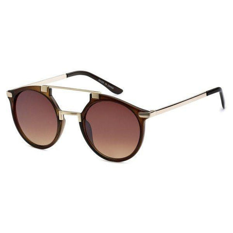 Double Bar Aviator Sunglasses- Brown