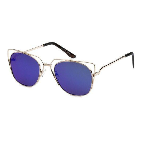 Metal Aviator Sunglasses- Blue - newdwear
