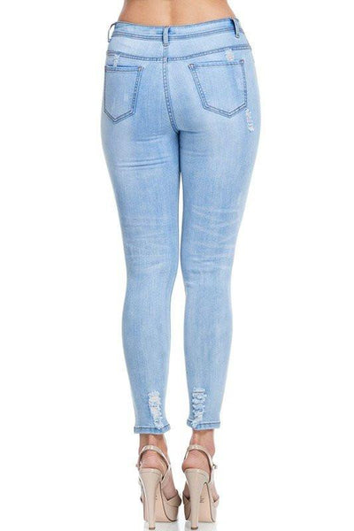 Washed Distressed Denim Jeans - newdwear