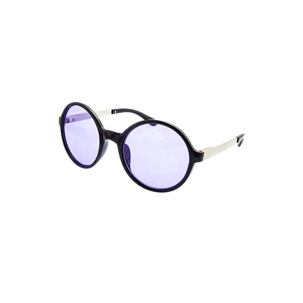 Retro Round Sunglasses- Purple - newdwear