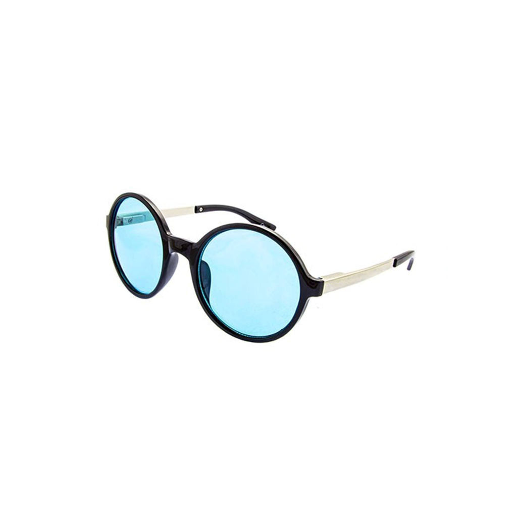 Retro Round Sunglasses- Blue - newdwear