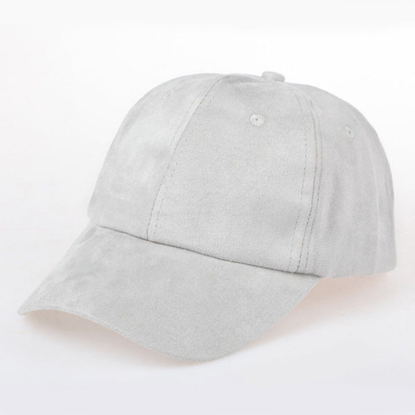 Suede Baseball Caps (Light Colors) - newdwear
