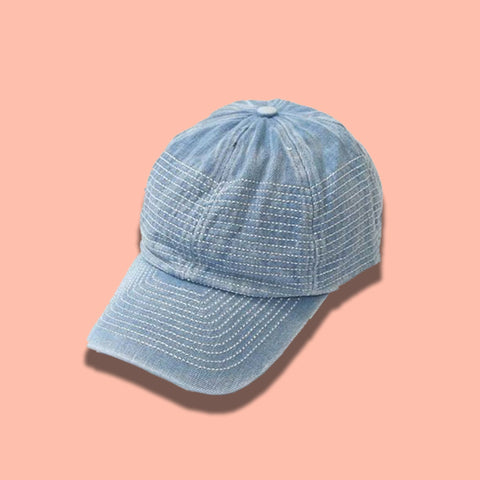 Stitched Denim Cap