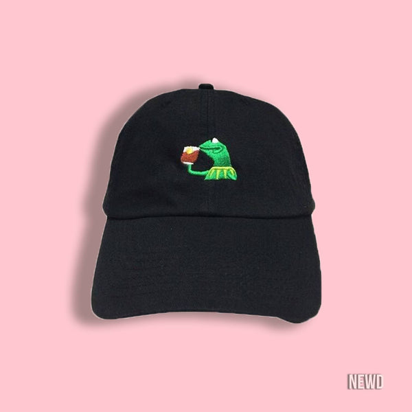 Spill the Tea Kermit Cap - newdwear