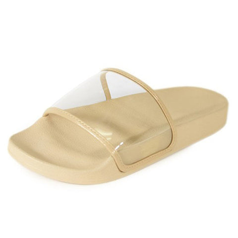 Clear Slippers- Nude - newdwear