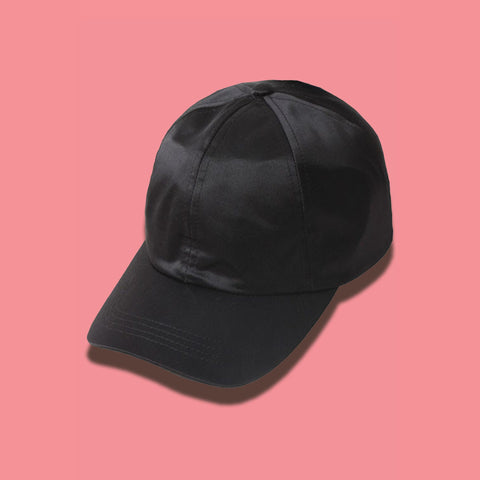 Satin Cap- Black