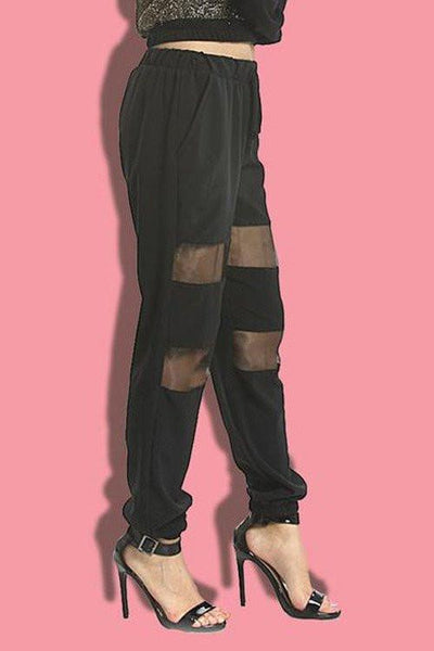 Mesh Drawstring Sweatpants - newdwear