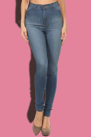 High Waisted Skinny Jeans - newdwear
