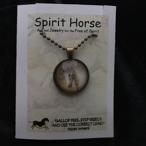 Necklace-Baroque Stallions Necklace and Notecard Gift Set