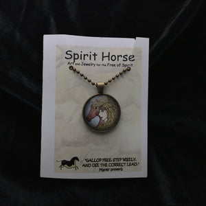 Necklace-Epona and the Four Directions Necklace and Notecard Gift Set