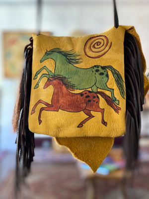 Elk Possibles Bag with Sun Bonnet Shield and Buffalo