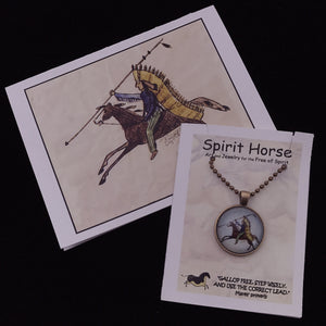 Necklace-Lakota Warrior Necklace and Notecard Gift Set