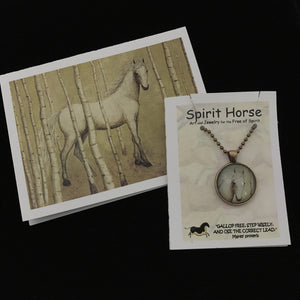 Necklace-Epona's Heart Necklace and Notecard Gift Set