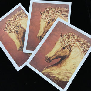 Golden Heart Notecards