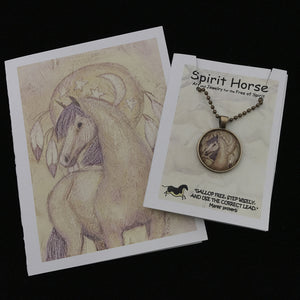 Necklace-Moon Pony Necklace and Notecard Gift Set