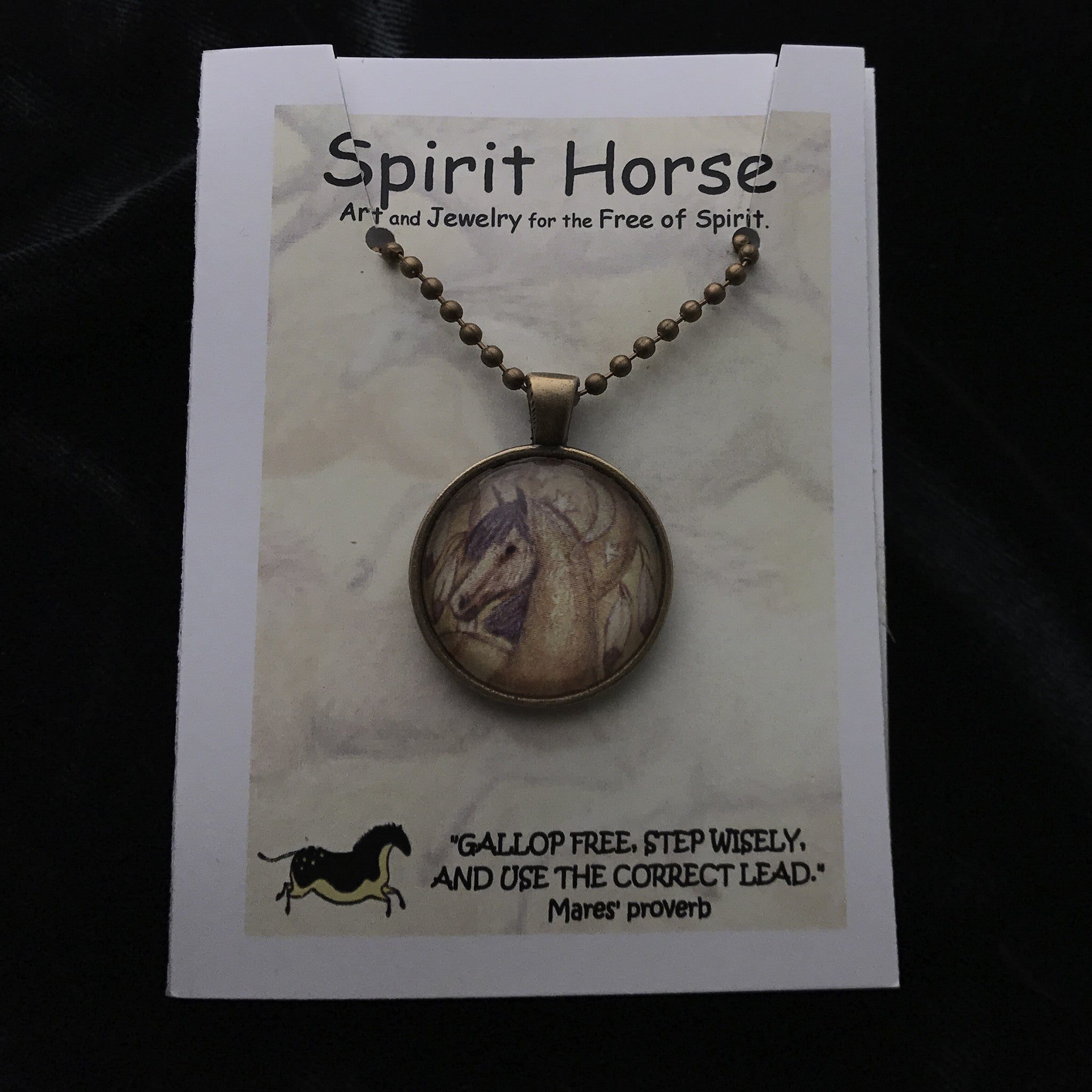 moon gallery and copy stallions horse of pony gift products necklace notecard set spirit baroque