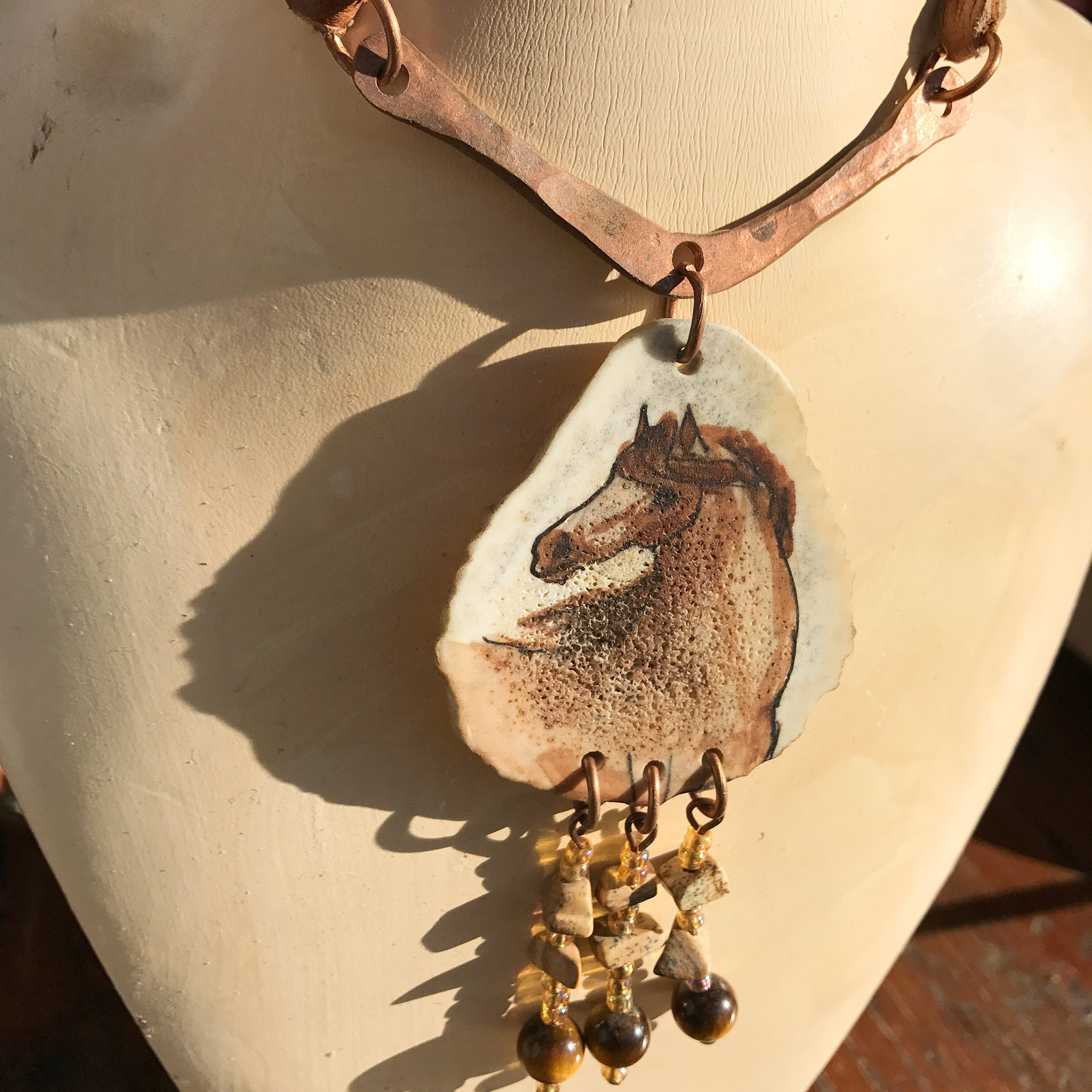 deer vaults antler crystal necklace