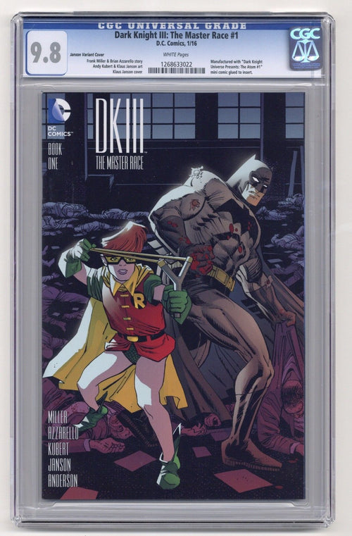 Dark Knight III: The Master Race #1 Janson Variant CGC 9.8
