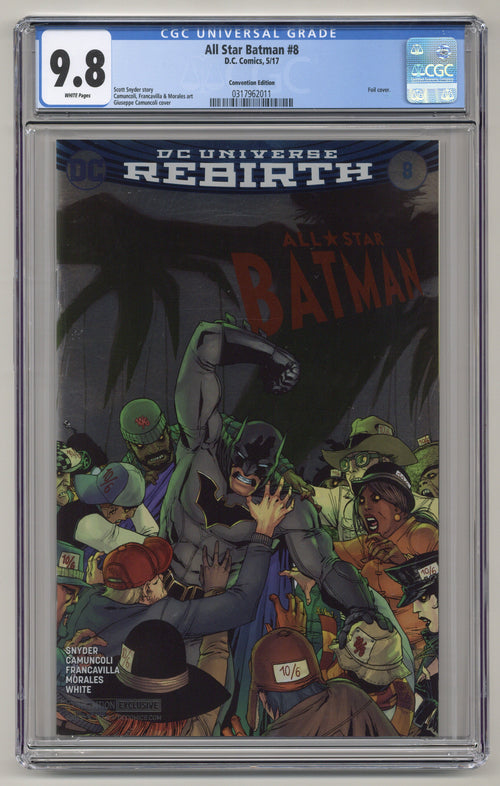 All Star Batman #8 Foil CGC 9.8