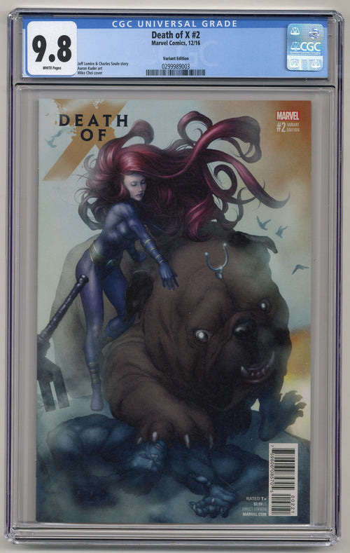 Death of X #2 Variant CGC 9.8