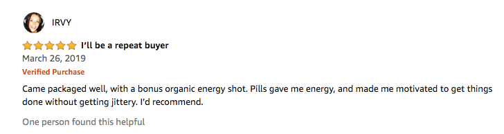 Testimonials for Energy Supplements