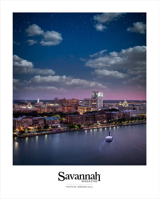 Savannah Starry Night Skyline Poster
