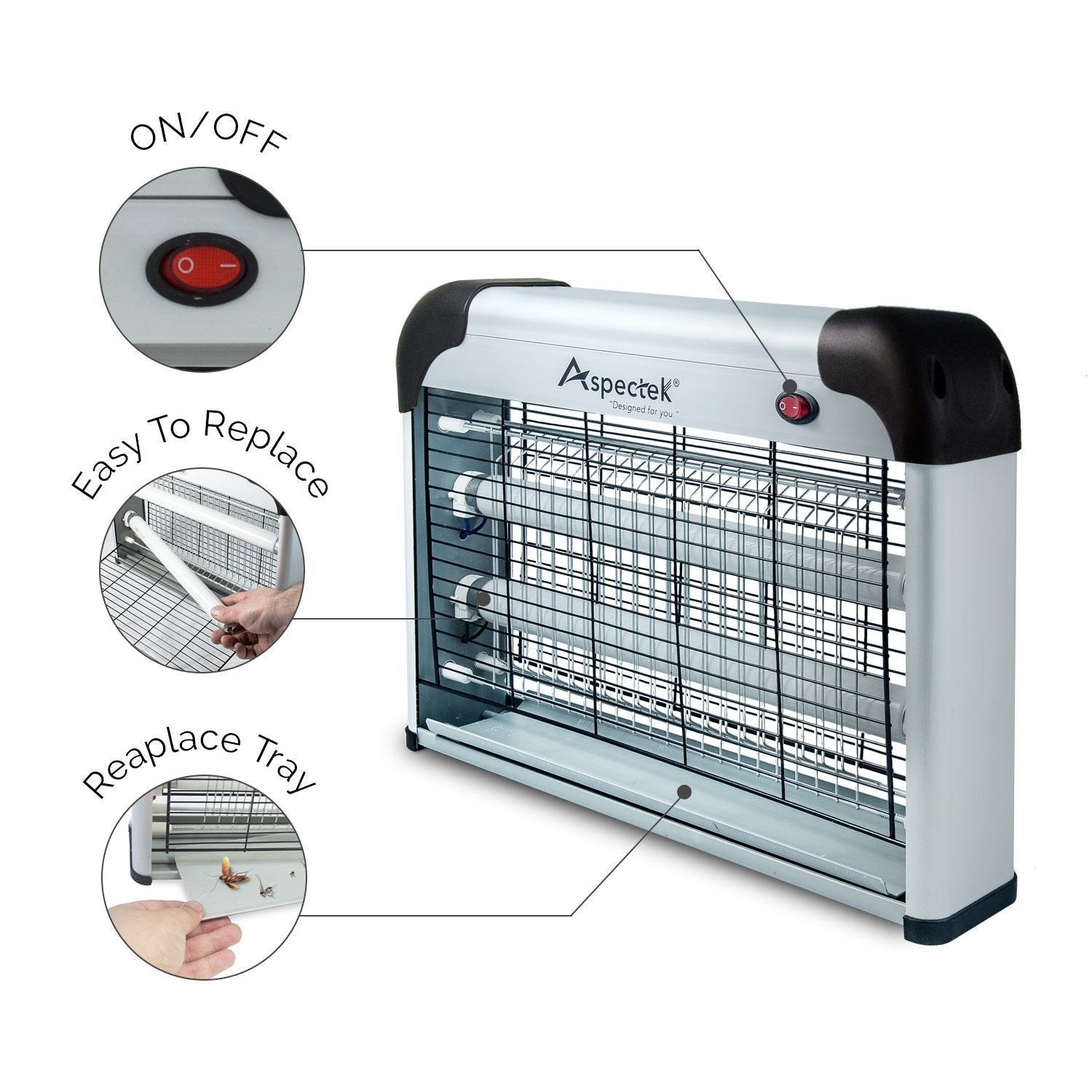 Bug Zapper Indoor Insect Killer 20W on