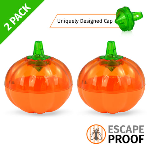Aspectek Fruit Fly Trap, Pumpkin Shape, Pack of 2