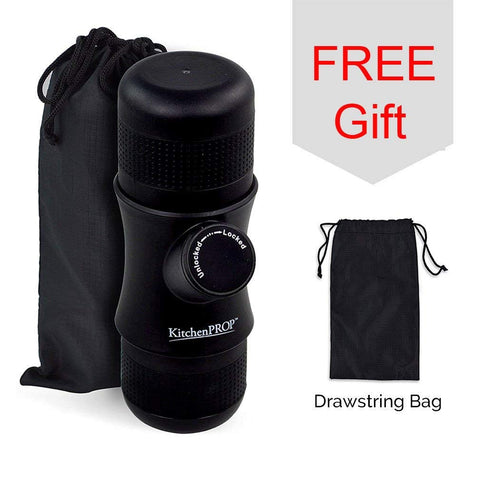 KitchenPROP Mini Portable Handheld Espresso Coffee Maker with Carrying Bag