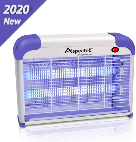 ASPECTEK Bug Zapper for Home Insect Killer Mosquito, Bug, Fly Traps & Other Pests Killer[2020 Upgraded] - Powerful 2800V Grid 20W Bulbs - Indoor Use Only