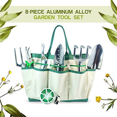 8-Piece Aluminum Garden Tool Set All-in-One