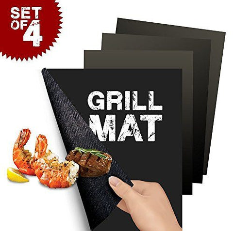 BBQ Grill Mat Non-Stick Perfect Grilling (4 Packs)